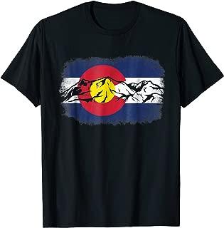 Colorado Mountain Love Colorado Flag T-Shirt