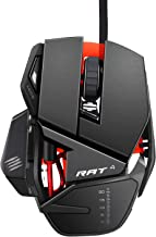 Wired Gaming Mouse,Mad Catz R.A.T.4 Upgraded 9-Buttons PC Optical Gaming Mouse with LED Light,4 Adjustable DPI (Up to 5000)