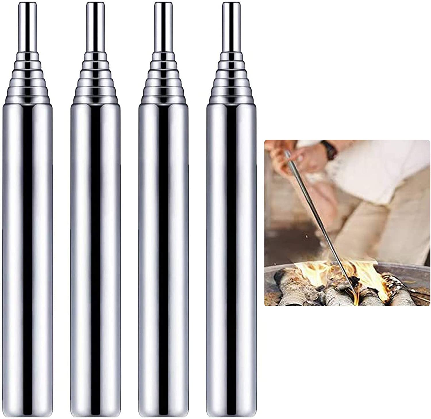 Haploon 10 Pieces Discount is also underway Fire Outlet sale feature Tube Telescopic Gear Fir Steel Stainless