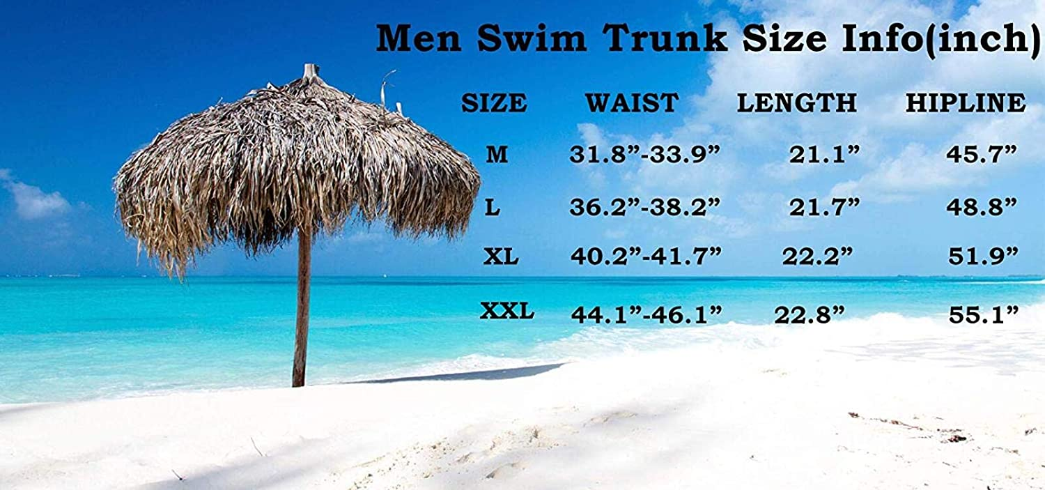 vc256488 Men's Sportwear Swim Trunks Quick Dry Board Shorts with Lining
