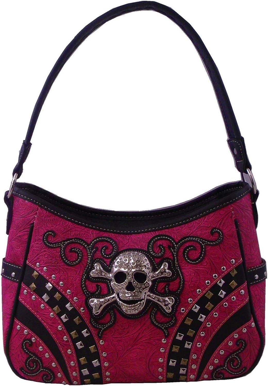 Girls Hobo Bag Skull and Diamonds Bag Wallet Handbags Faux Leather Handbags & Wallets Purses Womans Fashion