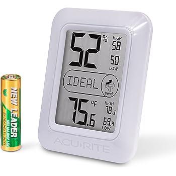 AcuRite 01131M Digital Hygrometer & Thermometer, White