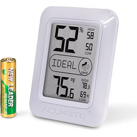 AcuRite Indoor Digital Thermometer & Hygrometer with Temperature and Humidity Gauge and Comfort Levels (01131M)