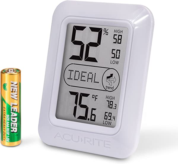 AcuRite 01131M Digital Hygrometer Thermometer White