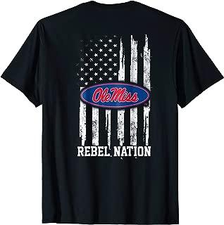 Ole Miss Rebels Nation Flag T-Shirt - Apparel