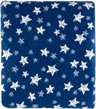 Fabric Editions Exclusive 36'' x 42'' Pre-Cut B Good Night Stars Flannel, Navy
