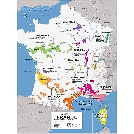 Cartina Francia Sud Dettagliata.Wine Folly Francia Wine Map Stampa Poster 30 X 40cm Amazon It Libri