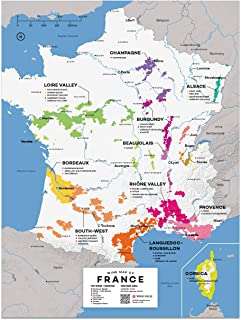Wine Folly France Wine Map Poster Print