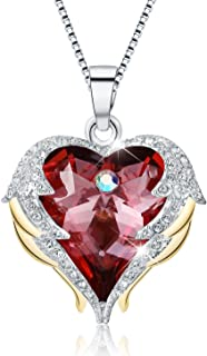 Women Heart of The Ocean Heart Pendant Necklace Made with Swarovski Crystals Jewelry