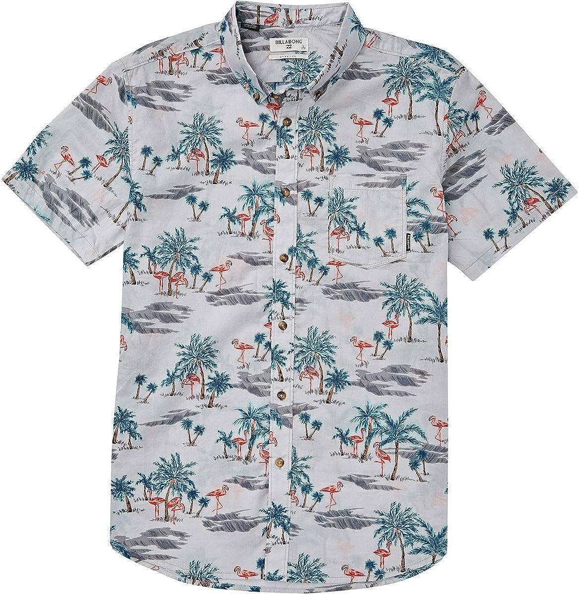 Billabong Mens Sundays Floral Short Sleeve Woven Shirt