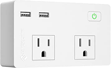 Etekcity Wall Surge Protector Power Strip with 2 USB Charging Ports, 2.4A Fast Charge, 5610 Joules, 1875W/15A, UL Listed, ...