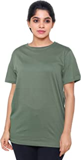 EASY 2 WEAR ® Women T-Shirts (Sizes S to 5XL) Loose and Long Fit(Cotton SLUB Fabric)