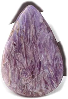 The Best Jewellery Charoite cabochon, 40Ct Natural Gemstone, Pear Shape Cabochon For Jewelry Making (39x27x5mm) SKU-14999