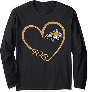 Montana State Bobcats Heart 3/4 Long Sleeve T-Shirt