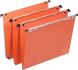 Esselte Dossier Suspendu Vertical, Fond V, A4, Lot de 25, Onglets inclus, Orange, Orgarex, 21631