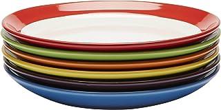Assiettes Plates - Ensemble Assiettes de Table - Set Assiette Grès - Lot Assiette de Table - Ensemble Vaisselle Assiette P...