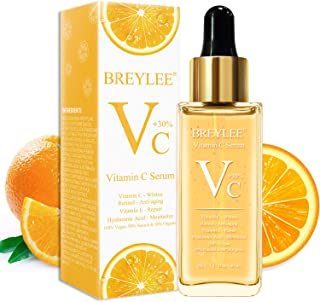 Vitamin C Serum, BREYLEE Anti-Aging Facial Serum with Hyaluronic Acid, Retinol, and Vitamin E Moisturizing Face Serum for Skin Whiten Skin Brighten, Fades Sun Spots (40ml, 1.37oz)