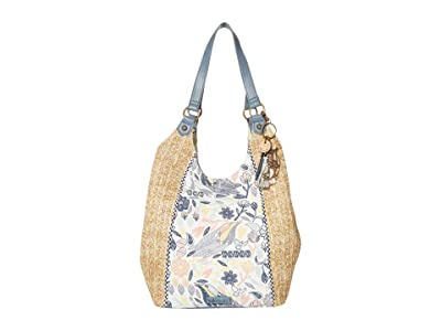 Sakroots Roma Straw Shopper (Multi Peace Birds) Handbags