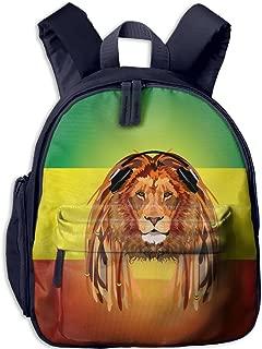 Toddler Pre School Backpack Boy&girl's Italian Flag Lion Listens To Music Book Bag