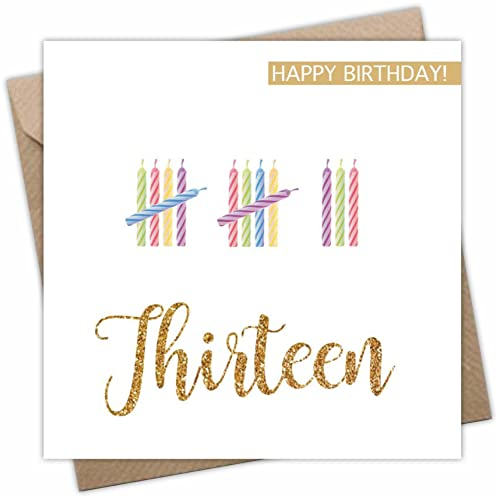 Thirteen Birthday Card For Boy Or Girl Age 13 Years Old 13th