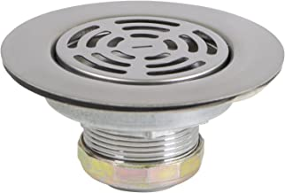 Everflow 7581 Flat Stainless Steel RV Mobile Shower Strainer - Drain Assembly for Kitchen or Laundry Sinks