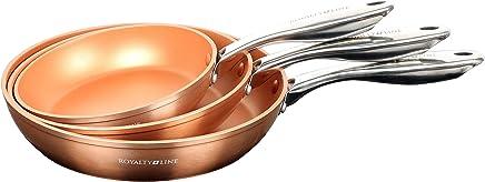 EUROSEDICO/ Pack 3 sartenes/sartenes/Juegos de sartenes / 20cm 24cm 28cm Cocina