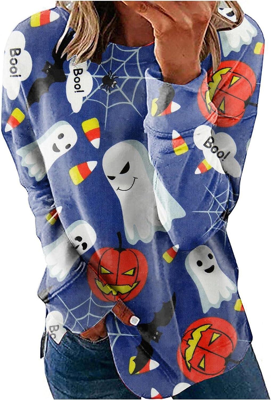 Max 43% OFF Our shop most popular Lightweight Pullover Top for Women-Halloween Pumpkin Horro Print