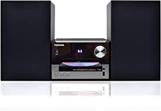 Toshiba TY-ASW91 Micro Component Speaker System: Wireless Bluetooth Speaker Sound System with FM, USB & CD, AUX Input, LED Display and  Remote Control