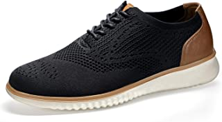 SEVEGO Men's Knit Mesh Sneakers Oxfords, Comfort Casual Dress Shoes, Lightweight Breathable Walking Shoes