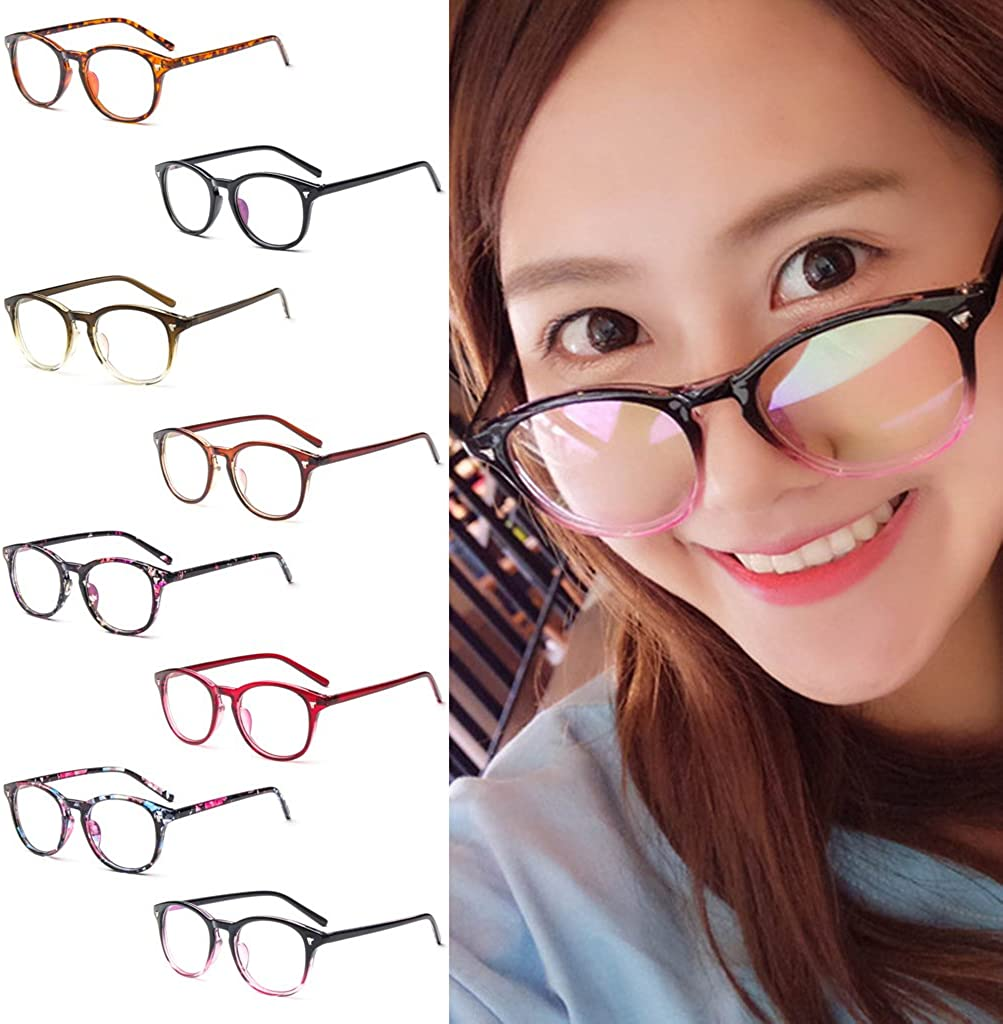 Amrka Vintage Unisex Eyeglasses Clear Lens Frame Men Women Optical Glasses