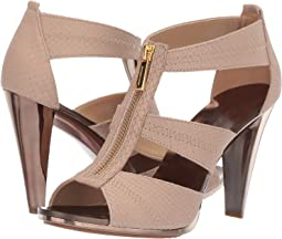 Nude Buffed Embossed Python/Galvanized Heel