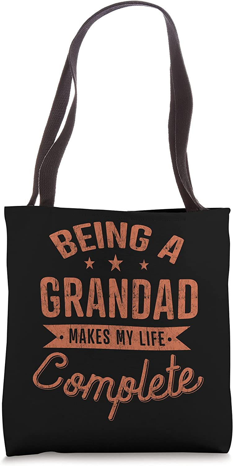 Being a Grandad Makes My Life Complete Fathers Day Gift Men Tote Bag