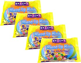 Brachs Mixed Up Minis Tiny Jelly Bird Eggs Easter Candy - Pack up 4 Bags - 7 oz Per Bag - 28 oz Total of Bulk Brachs Tiny Jelly Bird Eggs - 8 Different Flavors Classic and Speckled Brachs Jelly Beans