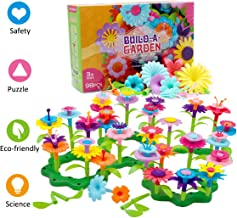 Byserten Gifts for 3-6 Year Old Girls Flower Garden Building Set 98 PCS Arts and Crafts for Girls 11 Colors Birthday Gifts