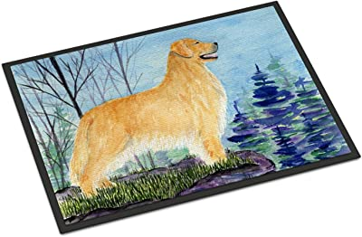 """Caroline's Treasures SS8607MAT Golden Retriever Indoor Outdoor Doormat, 18"""" x 27"""", Multicolor"""