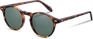 Vintage Round Sunglasses Men and Women Polarized Lens Acetate material
