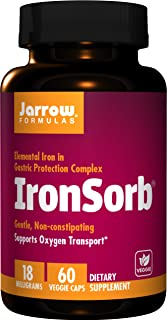 Jarrow Formulas Ironsorb 18mg, 60 Capsules (Pack of 2)