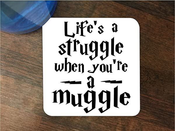 Life S A Struggle When You Re A Muggle Silicone Drink Beverage Coaster 4 Pack By Egeek Amz