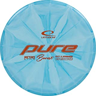 D·D DYNAMIC DISCS Latitude 64 Retro Burst Pure Disc Golf Putter | Frisbee Golf Putt and Approach Disc | 170g Plus | Stamp Color and Burst Pattern Will Vary