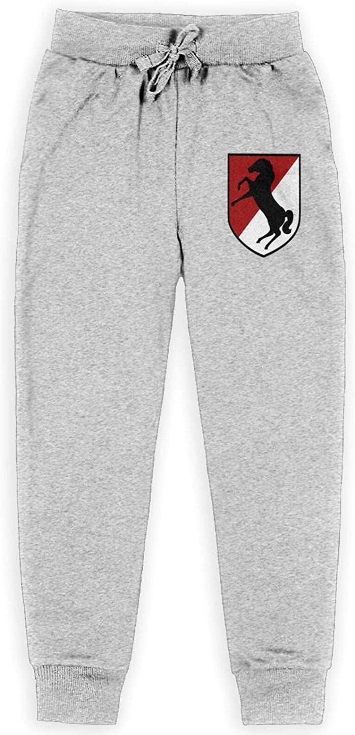 11th Armored Cavalry Regiment 1 year warranty Black All Ranking TOP4 Horse Boy's Cotton Pants