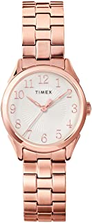 Timex TW2T45600 Women's Briarwood Indiglo Rose Gold Tone Bracelet Easy Reader Dial Analog Watch