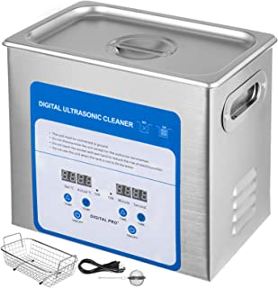 VEVOR 3.2L Professional Ultrasonic Cleaner 320W 304 and 316 Stainless Steel Digital Lab Ultrasonic Cleaner with Heater Tim...