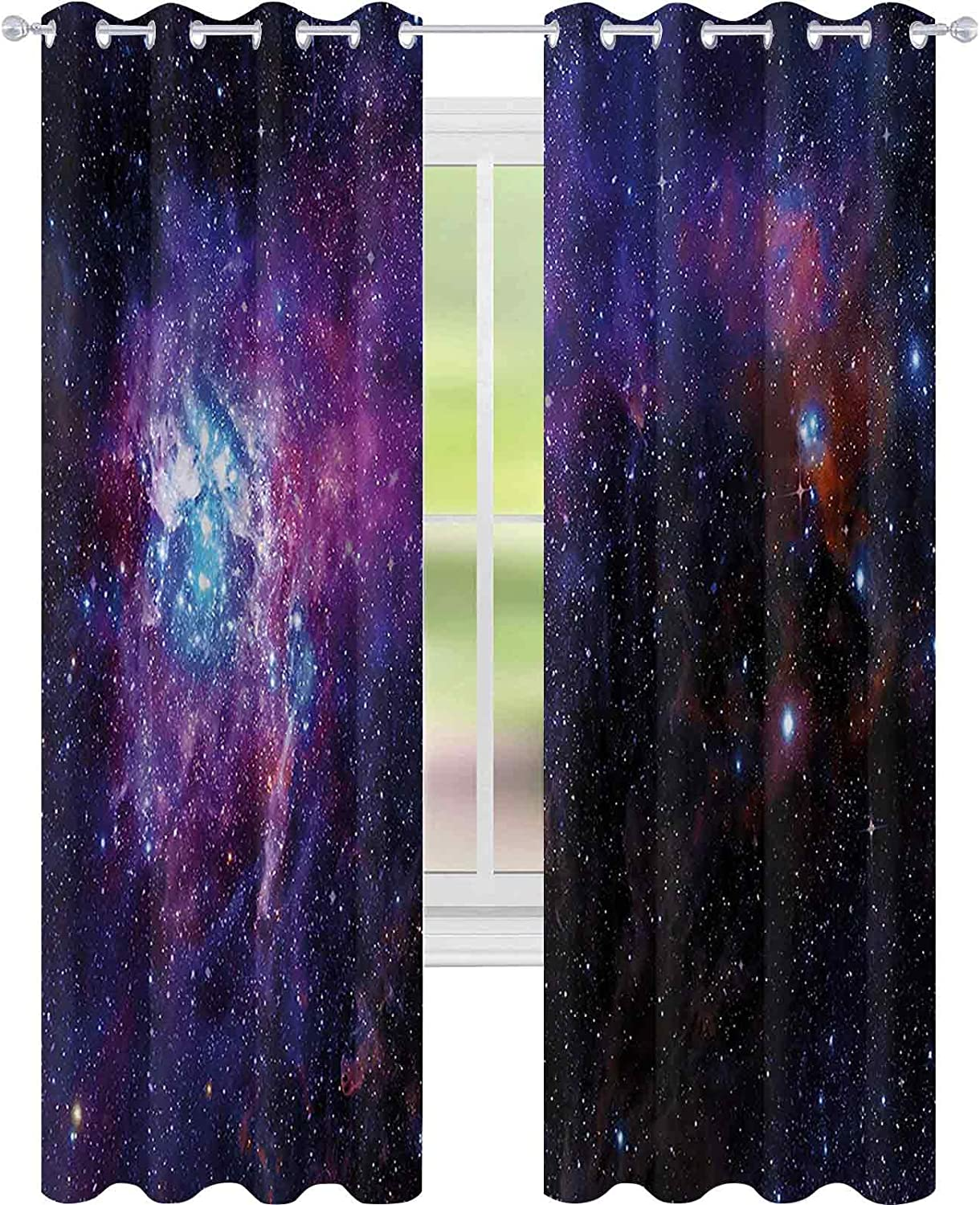 Light Blocking Curtains Starry Industry No. 1 Night Cloud The Challenge the lowest price of Japan ☆ Celestial Nebula
