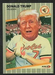 Mint Donald Trump Baseball Card 1989 Fleer Billy Ripken Error FU@K FACE Baseball Card! Rare!