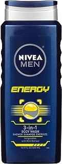 Nivea For Men Energy 3-in-1 Body Wash - 16.90 oz