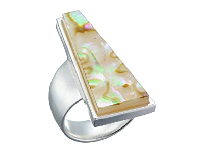 Kendra Scott Collins Cocktail Ring (Bright Silver/White Abalone) Ring