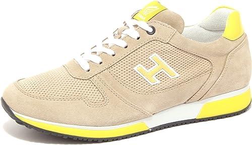Hogan 4139Q paniers hommes Slash Slash Beige jaune Suede Beige jaune chaussures Hommes  rentable