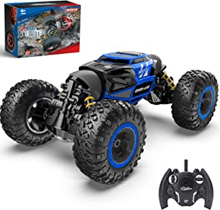 BEZGAR 16 Toy Grade1:14 Scale Remote Control Crawler, 4WD Transform 15 Km/h All Terrains Electric Toy Stunt Cars RC Monster Vehicle Truck Car with Rechargeable Batteries for Boys Kids Teens and Adults