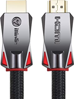 4K HDR HDMI Cable 6 Feet, HDMI 2.0 18Gbps, Supports 4K 120Hz, 4K 60Hz(4 4 4, Dolby Vision, HDR10, E-ARC, HDCP2.2) 1440P 144Hz, High Speed Ultra HD Cord