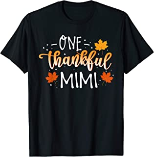 Autumn One Thankful Mimi Thanksgiving Day Gift T-Shirt